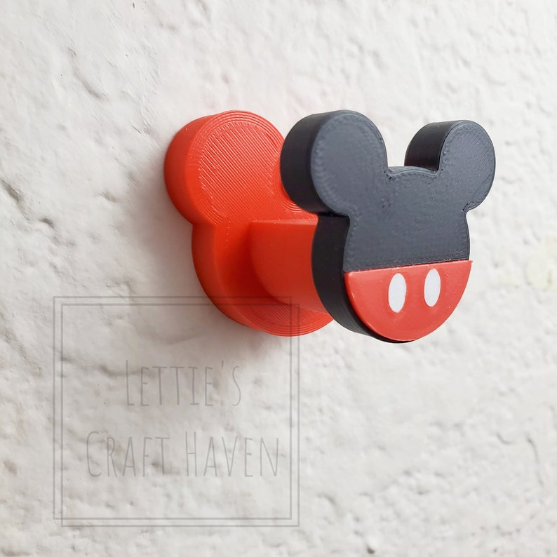 4 Pack MULTI-COLOR FACEPLATE Mouse Ear Wall Hook Interchangeable Series