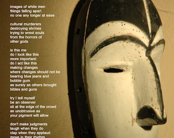 Poetry & photography poster: On Contemplating the Afikpo Onye Ocha Mask