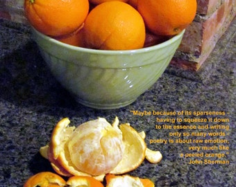 Poetry & photography poster: Oranges