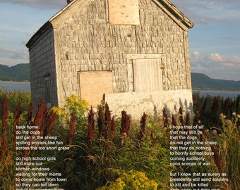 Poetry & photography poster: Back Home