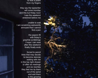 Poetry & photography poster: Sitting in Santa Fe