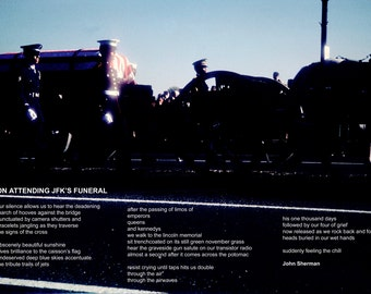 Poetry & photography poster: On Attending JFK's Funeral
