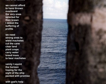 Poetry & photography poster: Middle Passage