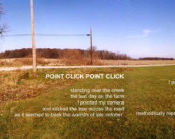 Poetry & photography poster: Point Click Point Click