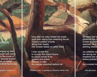 """Poetry & photography poster: Islands (9"""" x 17"""")"""
