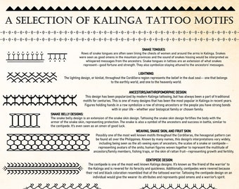 Cordilleras/Kalinga Tattoo Motifs/Designs (Bands) and Reference Sheet DIGTIAL DOWNLOAD | Bathalia Digital Prints