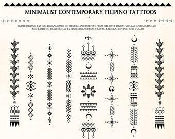 Minimalistic Contemporary Filipino Tattoo Motifs & Reference Sheet VERSION 1 DIGITAL DOWNLOAD | Bathalia Digital Print