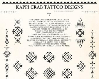 Kappi Crab Tattoo Motifs Original Designs DIGITAL DOWNLOAD | Bathalia Digital Art