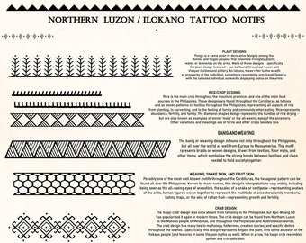 Ilokano and North Luzon Tattoo Motifs DIGITAL DOWNLOAD | Bathalia Digital Art