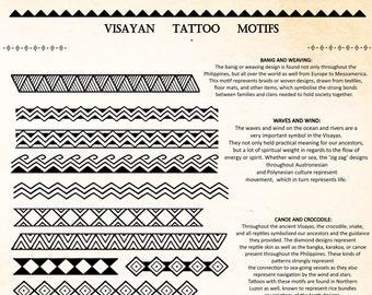 Visayan Tattoo Motifs (Bands) & Educational Reference Sheet DIGITAL DOWNLOAD