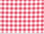 Sophie Yardage by Brenda Riddle of Acorn Quilts for Moda Fabrics 18714 14 Gingham Rosey Red