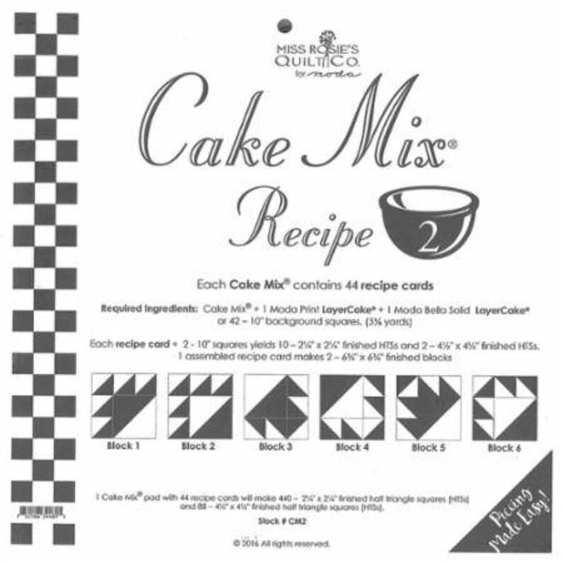 CM2 Miss Rosie #2 Cake Mix Recipe 2 by Miss Rosie