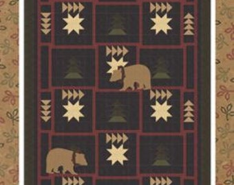 Midnight Stroll Quilt Pattern designed by Barbara Cherniwchan for Coach House Designs. Features Moda Heartfelt by Kansas Troubles.