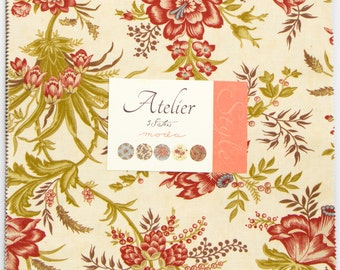 "Atelier by 3 Sisters for Moda Fabrics Layer Cake 44050LC . Layer Cake includes 40 10"" squares of fabric in a warm/rich color palette!"