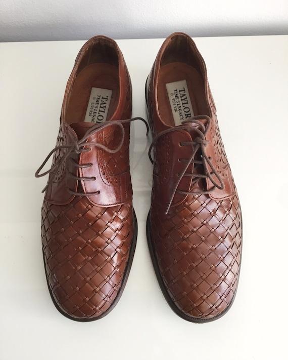 Vintage Shoes Mens Brown Oxford Basket