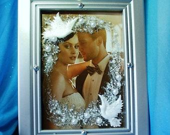 Cadre Photo de mariage, cadeau pour la mariée et le marié, cadeau de mariage pour les parents, cadre de mariage personnalisé