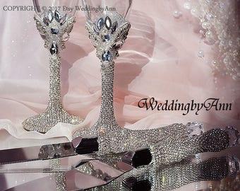 Silver Wedding Cake Serving Set, Wedding Cake Server Set, Wedding Knife Serving Set- Wedding Cake Accessories,  Bridal shower gift