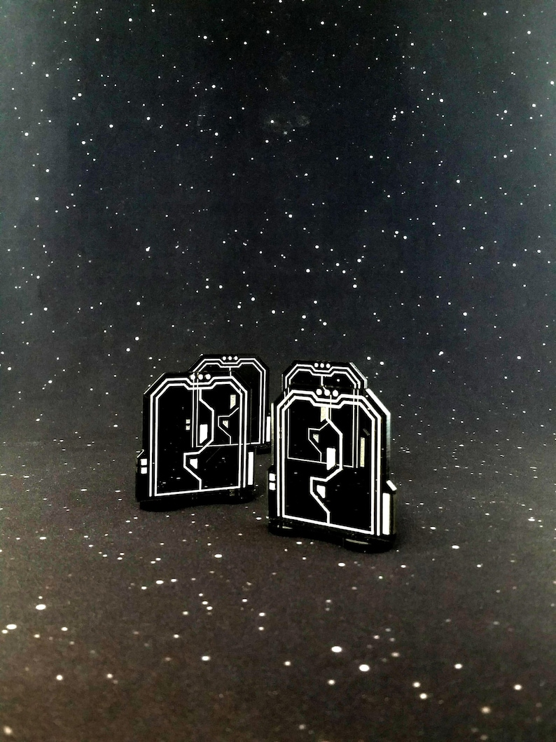 Acrylic Door Tokens for use with Imperial Assault 4 pieces image 0