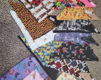 Assorted Fursuit bandanas (hook & Loop fasteners)