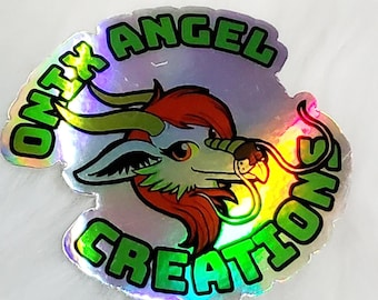 Holographic logo 3 in vinyl sticker