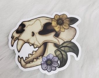Tiger Skull 3 in vinyl sticker