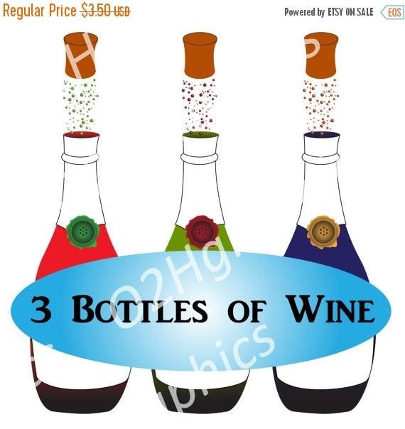 nov 20 sale wine bottles clipart clip art alcohol drinks etsy rh etsy com etsy clip art dottycreative etsy clipart of african american king