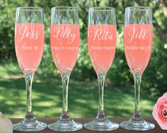 Personalized Toasting Glasses, Champagne Glasses, Champagne Flutes, Personalized Champagne Glasses, Wedding Glasses, Bachelorette Party