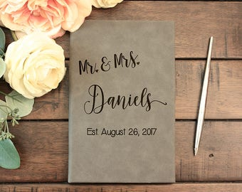 Wedding Guest Book, Personalized Wedding Guestbook, Wedding Guest Book Alternative, Personalized, Rustic Guest Book, Calligraphy JRN3