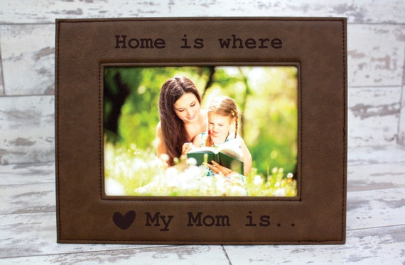 Personalized Picture Frame Leather Frame Personalized For Etsy