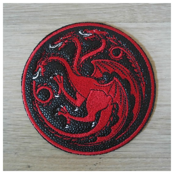 db3c2d203 10 cm naszywka z imitacji skóry Galuchat Targaryen gra o tron   Etsy