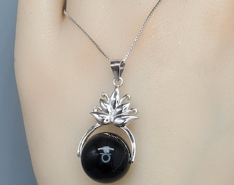 Rainbow EYES Necklace Jewelry Art Pendant in SILVER BEZEL with Link Chain Included APN309