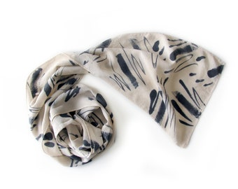 Abstract Expressionist Scarf