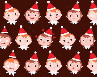 28 Christmas elves emojis