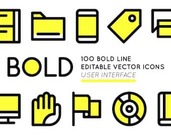 BOLD basic User Interface icons