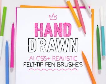 AI felt-tip pen brushes