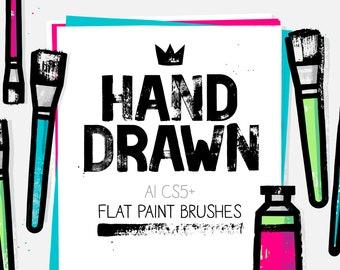 AI square head flat paint brushes