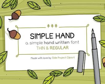Simple Hand handwritten font