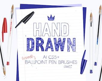 AI used ballpoint pen brushes