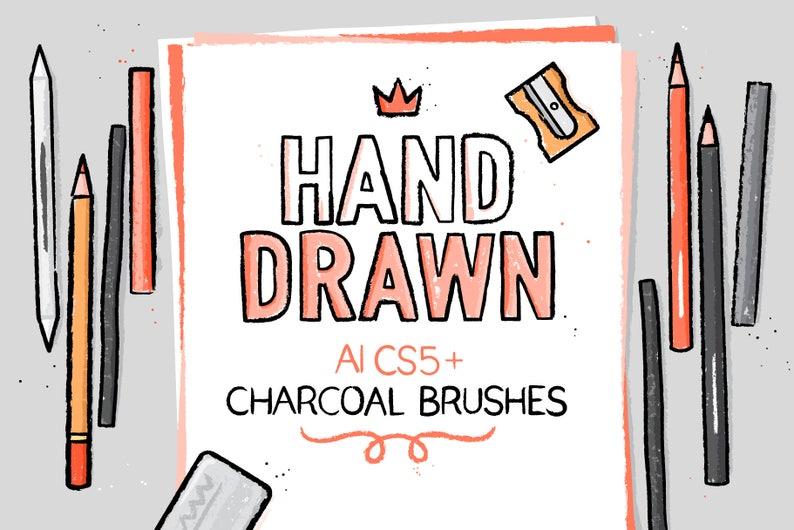 AI charcoal brushes