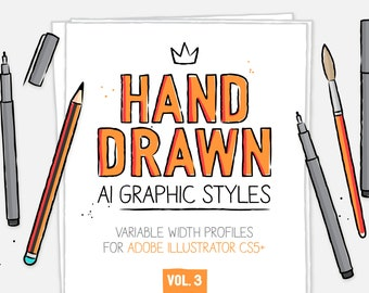 AI hand drawn styles & brushes vol.3