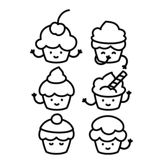 Cupcakes Para Colorear