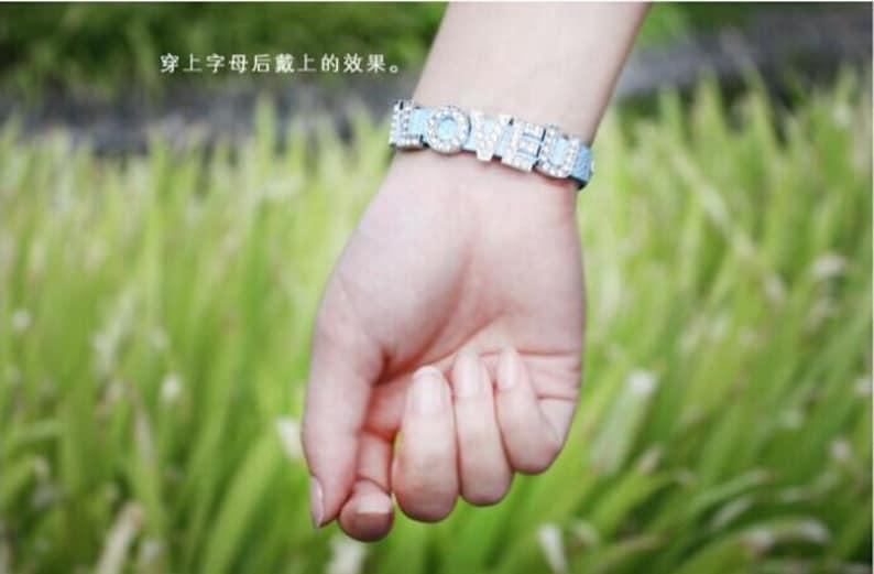 10pcs Adjustable Snake Strap Blank Faux Leather Bracelet Strap Wristbands,Fit 10mm Slide Charm,DIY Bracelet Accessory