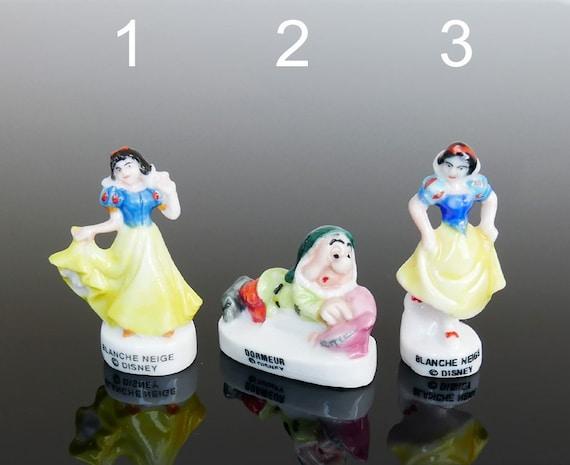SNOW WHITE MUSICIANS Set 10 Mini French Porcelain FEVES Figures Figurines DISNEY