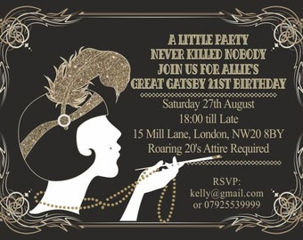 Great gatsby invites | Etsy