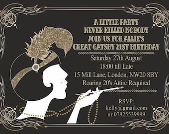 gatsby invitation etsy