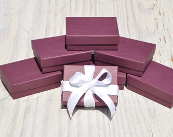 100 Purple 3.25x 2.25x1 Gift Jewelry Boxes Retail Presentation with Cotton Fill : purple gift boxes - princetonregatta.org