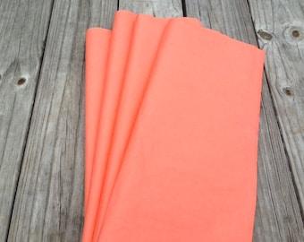 Coral Tissue Paper 48 Sheets / Bulk Tissue Paper / Tissue Paper Sheets / Coral Wedding / Coral Shower