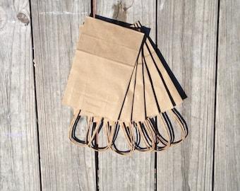 "50 Pack - Kraft Paper Handle Bags (5.25""x 3.25"" x 8.375"")"