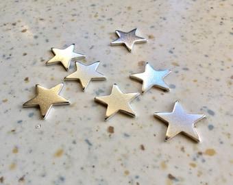 UK made 16mm aluminium metal stars 1.2mm thick (16 gauge)