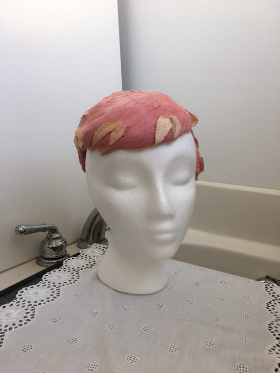 Pink Feather headband fascinator hat